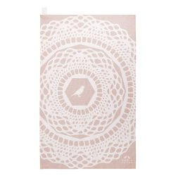 Torie Jayne Design Maisy print tea towel in Cloud Pink