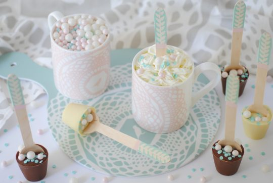 DIY Pretty hot chocolate spoons